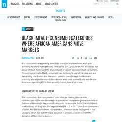 Black Impact: Consumer Categories Where African Americans Move Markets – Nielsen