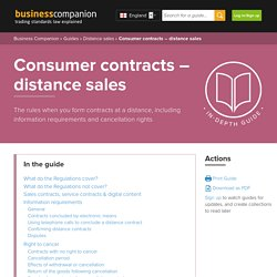 Consumer contracts – distance sales