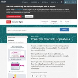 Consumer Contracts Regulations