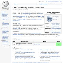 Consumer Priority Service Corporation - Wikipedia