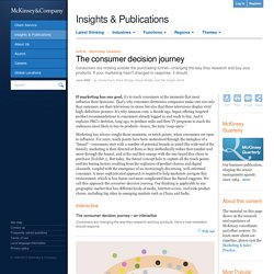The consumer decision journey - McKinsey Quarterly - Marketing & Sales - Strategy