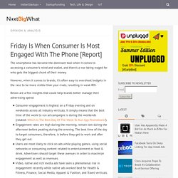 Friday Is When Consumer Is Most Engaged With The Phone [Report]
