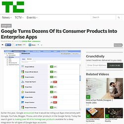 Google Turns Dozens Of Its Consumer Products Into Enterprise Apps