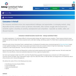 Consumer & Retail Executive Search Firm - Amrop Carmichael Fisher