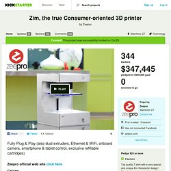 Zim, the true Consumer-oriented 3D printer by Zeepro