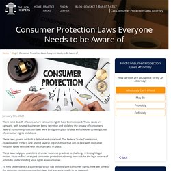 Consumer Protection Laws Everyone Needs to be Aware of