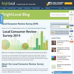 Local Consumer Review Survey 2014