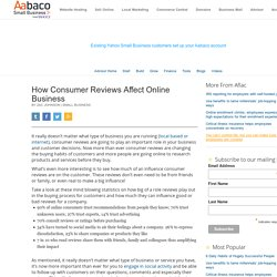 How Consumer Reviews Affect Online Business