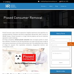 Pissed Consumer Removal Services