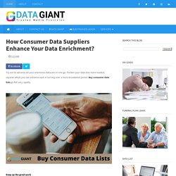 How Consumer Data Suppliers Enhance Your Data Enrichment?