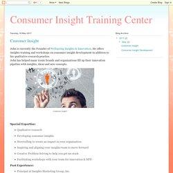 Consumer Insight Training Center: Customer Insight