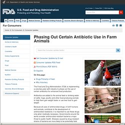Phasing Out Certain Antibiotic Use in Farm Animals