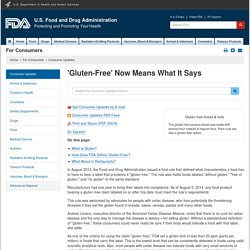FDA 09/03/13 What is Gluten-Free? FDA Has an Answer