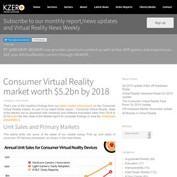 Consumer Virtual Reality market worth $5.2bn by 2018