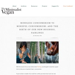 Mindless Consumerism vs Mindful Consumerism: And The Birth of Our New Business, Fairlings - The Minimalist Vegan