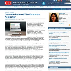 Consumerization Of The Enterprise Application
