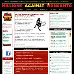 Organic Consumers Association: Millions Against Monsanto Campaign
