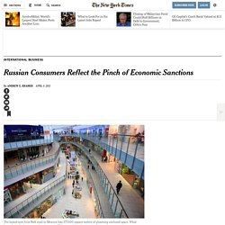 Russian Consumers Reflect the Pinch of Economic Sanctions