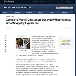 Getting to 'Wow': Consumers Describe What Makes a Grea
