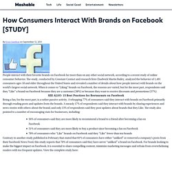 How Consumers Interact With Brands on Facebook [STUDY]