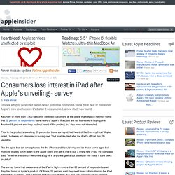 Consumers lose interest in iPad after Apple's unveiling - survey