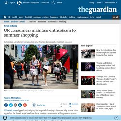 UK consumers maintain enthusiasm for summer shopping