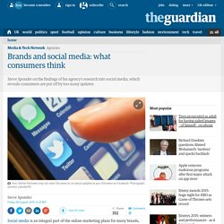 Brands and social media: what consumers think