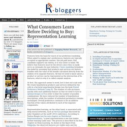 What Consumers Learn Before Deciding to Buy: Representation Learning
