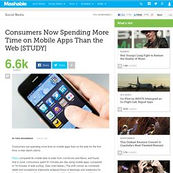 Consumers Now Spending More Time on Mobile Apps Than the Web [STUDY]