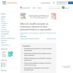 Effect of a health reminder on consumers' selection of ultra-processed foods in a supermarket