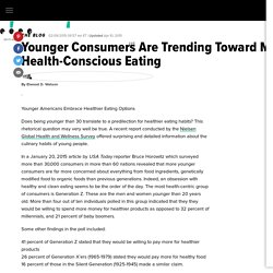 Younger Consumers Are Trending Toward More Health-Conscious Eating
