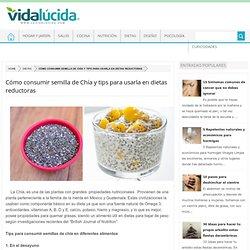Cómo consumir semilla de Chía y tips para usarla en dietas reductoras