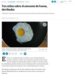 Tres mitos sobre el consumo de huevo, derribados - 11.10.2016 - LA NACION