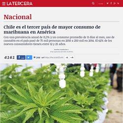 Chile es el tercer país de mayor consumo de marihuana en América