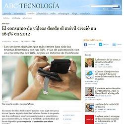 El consumo de vídeos desde el móvil creció un 164% en 2012