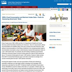 ERS USDA 06/10/14 ERS's Food Consumption and Nutrient Intake Data—Tools for Assessing Americans' Diets