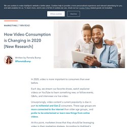 How Video Consumption is Changing in 2020 [New Research]