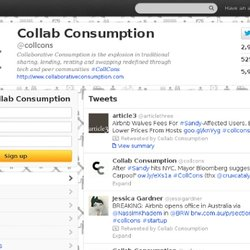 Collab Consumption (collcons) sur Twitter