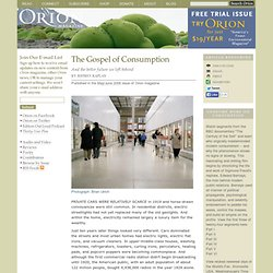 The Gospel of Consumption
