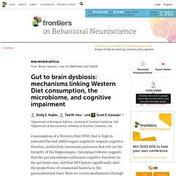 Gut to brain dysbiosis: mechanisms linking Western Diet consumption, the microbiome, and cognitive impairment