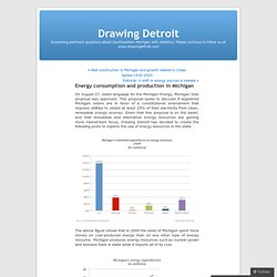 Energy consumption and production in Michigan « Drawing Detroit