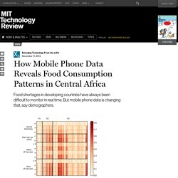 How Mobile Phone Data Reveals Food Consumption Patterns in Central Africa