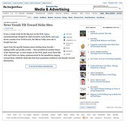 News Consumption Tilts Toward Niche Sites