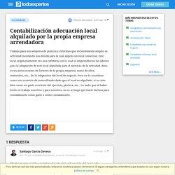 Contabilización adecuación local alquilado por la propia empresa arrendadora - Contabilidad