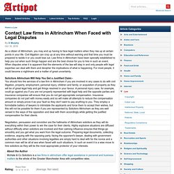 Contact Law firms in Altrincham When Faced with Legal Disputes