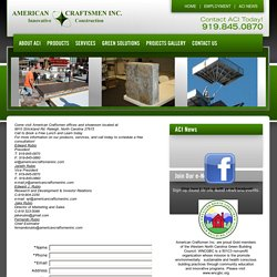 Contact American Craftsmen Inc Raleigh NC
