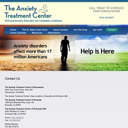 Contact Us - The Anxiety Treatment Center