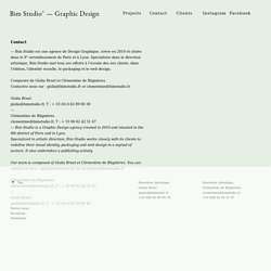 Contact - www.bimstudio.fr