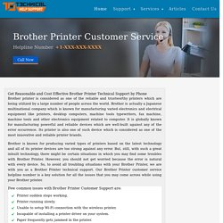 Contact Brother Printer customer Care Phone Support Number