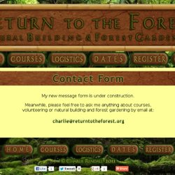 Contact Form for Natural Building and Forest Gardening Courses